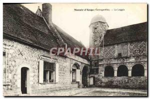 Old Postcard Manoir D & # 39Ango Varengeville La Loggia