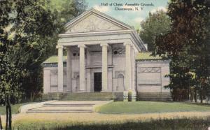 CHAUTAUQUA, New York, PU-1911; Hall Of Christ, Assembly Grounds