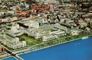 Air View over Charles River Basin, Cambridge, Mass. Postcard