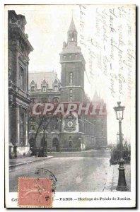 Old Postcard Paris Clock Courthouse