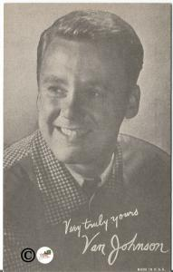 Head Shot Photograph Postcard of Van Johnson 1940-1950 Singer Actor