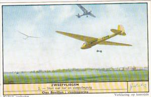 Liebig Trade Card s1683 Windflights No 2 Start met lier en sleepvliegtuig