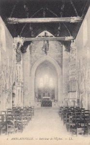 AMBLAINVILLE, France,1910-1920s, Interieur de l'Eglise