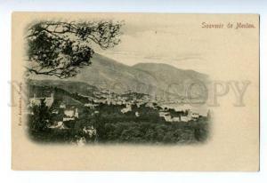 133106 FRANCE Souvenir de MENTON Vintage postcard