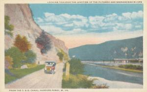 HARPERS FERRY, WV, 1910s; Junction of the Potomac & Shenandoah Rivers