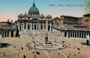 Italy - Roma Piazza e Basilica di S. Pietro 01.87