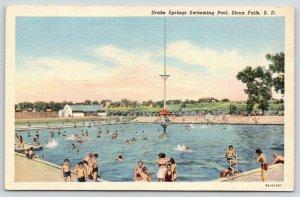 Sioux Falls South Dakota~Drake Springs Swimming Pool~Kids in Water~1940s