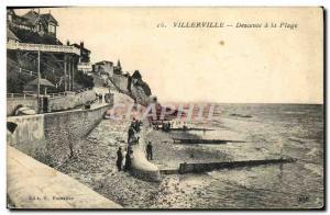 Postcard Old Villerville Descent to the Beach