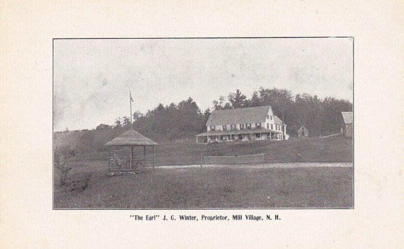 MILL VILLAGE, New Hamshire, 1900-1910's; The Earl J.C. Winter, Proprietor