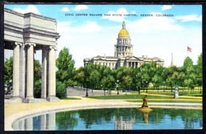 Civic Center Building and State Capitol,Denver,CO