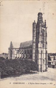 France Compiegny L'Eglise Saint-Jacques 1937