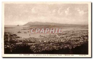Toulon - Vue Generale taken from the top of Faron - Old Postcard