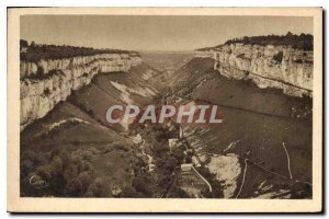 Old Postcard Baume les Messieurs Jura General view of the Vallee