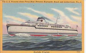 S S Princess Anne Ferry Between Kiptopeke Beach and Little Creek Virginia