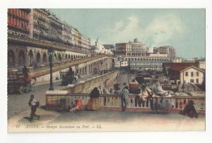 Algiers Algeria Rampes Descendant au Port Vtg Lucien LL