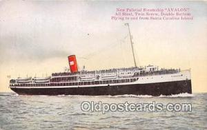 New Palatial Steamship Avalon Santa Catalina Island, California Ship Postcard...