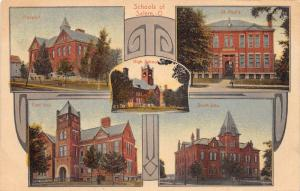 E84/ Salem Columbiana Co Ohio Postcard  c1910 Schools Salem St Pauls Prospect 5