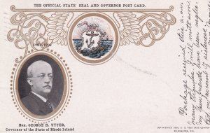 RHODE ISLAND, PU-1906; The Official State and Governor Post Card, Hon. George...