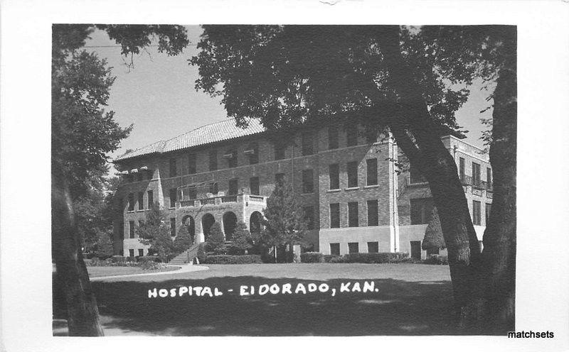 1940s EL DORADO KANSAS Hospital RPPC Real Photo BUTLER postcard 3451