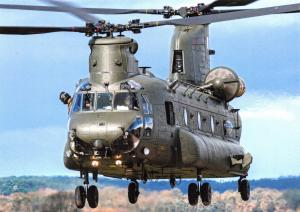Giant Size Postcard Chinook HC3 Helicopter from RAF Odiham at RAF Shawbury OS197