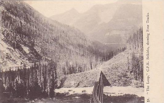 The Loop, C. P. R. Selkirks, Showing Four Tracks, Canada, 1900-1910s