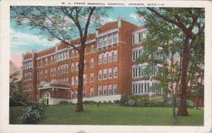 Michigan Jackson W A Foote Memorial Hospital 1949