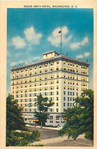 Roger Smith Hotel Washington DC 1957 Linen