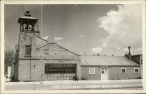 Carson City NV Fire Station  1950s Used Real Photo Postcard