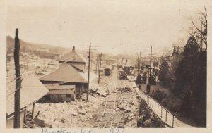 RP: PROCTOR , Vermont , 1927 Railroad Train Depot Flood Damage