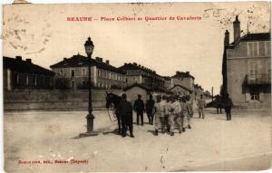 CPA  Beaune - Place Colbert et Quartier de Cavalerie   (586666)
