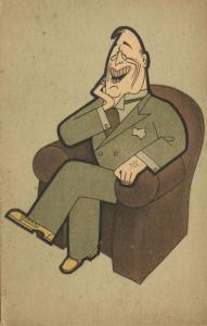 WWII Caricature U.S. President Franklin D. Roosevelt (1940s)