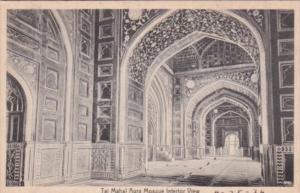 India Agra Taj Mahal Mosque Interior View