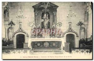 Old Postcard Holy Name Levy Interior of The Church of Our Lady of the Rock