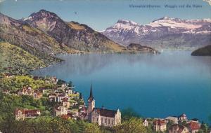 Switzerland Vierwaldstaettersee Weggis und die Alpen