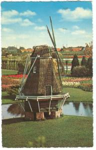 Netherlands, Holland, Land of Flowers and Wind-mills, used Postcard
