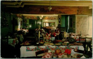 1959 Corona, California Postcard Springborg's GLEN IVY HOT SPRINGS Restaurant