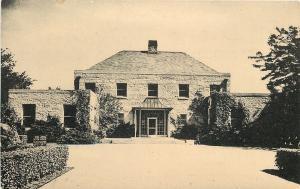 Lisle Illinois~Morton Arboretum~Administration Bldg~1940s Linen Postcard