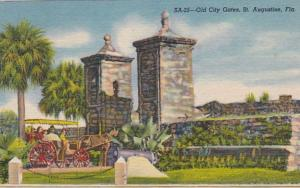 Florida St Augustine Old City Gates Curteich