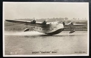 Mint England Real Picture Postcard Aviation Flying boat Short Empire Imperial