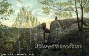 Den Rock Lawrence MA postal used unknown