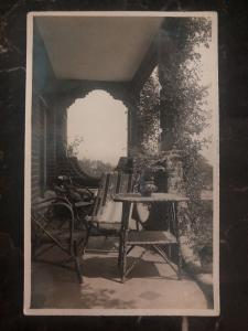 Mint USA RPPC Real Picture Postcard House Porch View