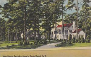 Scenic View, Mansion in West Haven Suburb, Rocky Mount, North Carolina 1930-40s