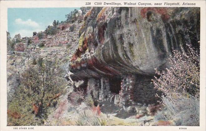 Arizona Cliff Dwellings Walnut Canyon Near Flagstaff Curteich