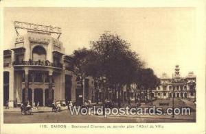 Vietnam, Viet Nam,  Nhân Vật Saigon au dernier plan I'Hotel de Ville