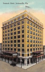 Jacksonville Florida~Seminole Hotel~Garden Topped Porte Cocheres~1910 PC