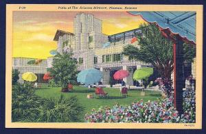 Biltmore Hotel Patio Phoenix AZ unused c1939