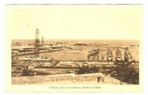 BARCELONA, Aerial View of Port and Harbour, Cataluna, Spain, 10-20s