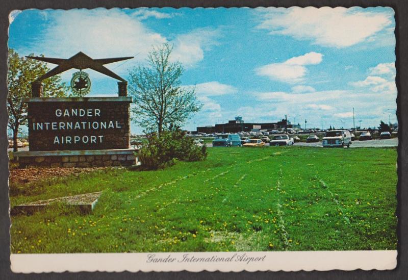 Entrance To Gander International Airport Hudson Bomber- Unused