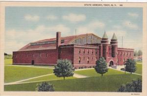 New York Troy The State Armory Curteich