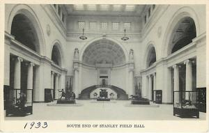 Stanley Field Hall Field Museum of Natural History Chicago Illinois Divided Back